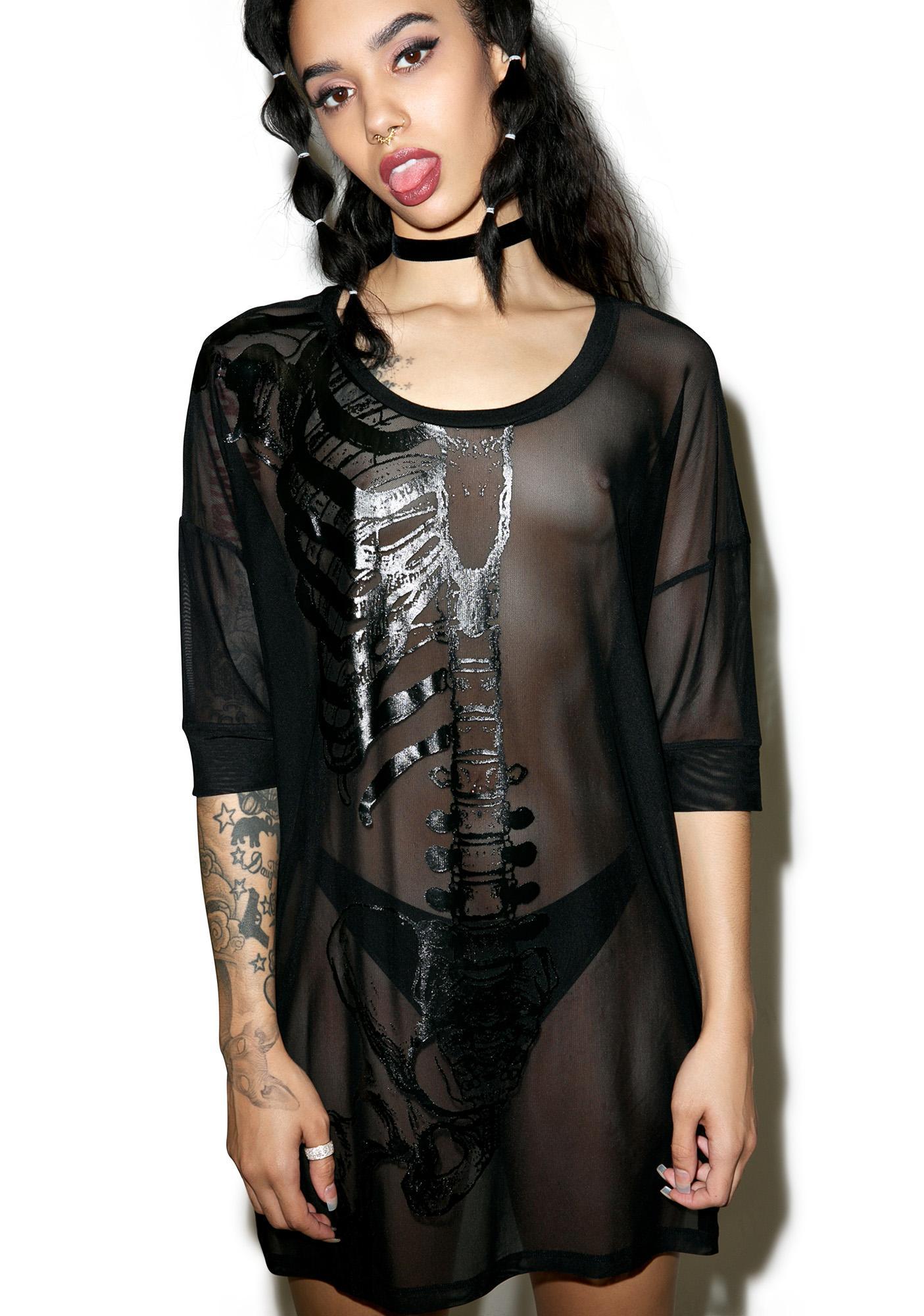 Iron Fist Wishbone Mesh Cover Up Dress