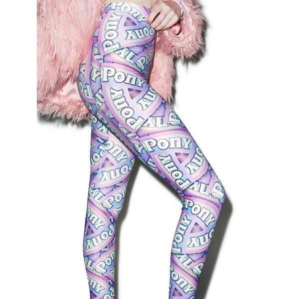 Alice Vandy Pony Logo Leggings
