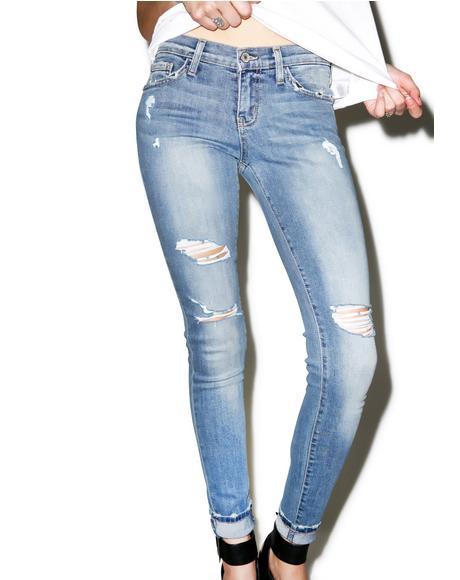 Paige Distressed Skinny Jeans