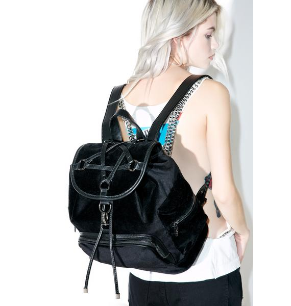 Killstar Damsel Velvet Backpack