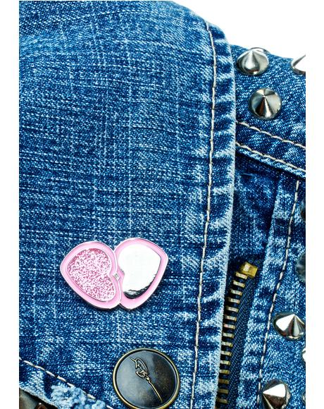 Love Sparkle Blush Pin