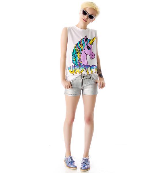 Kill City Junkie Pyramid Holographic Foil Shorts