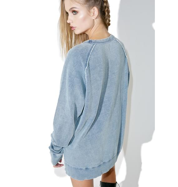 Cheap Monday Rules Denim Sweatshirt
