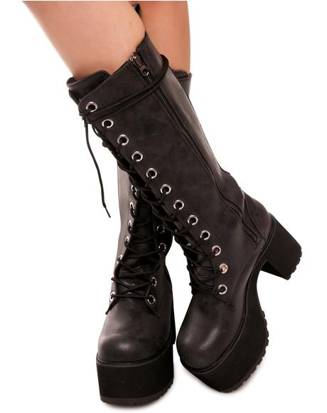 12-Eye Nosebleed Platform Boots