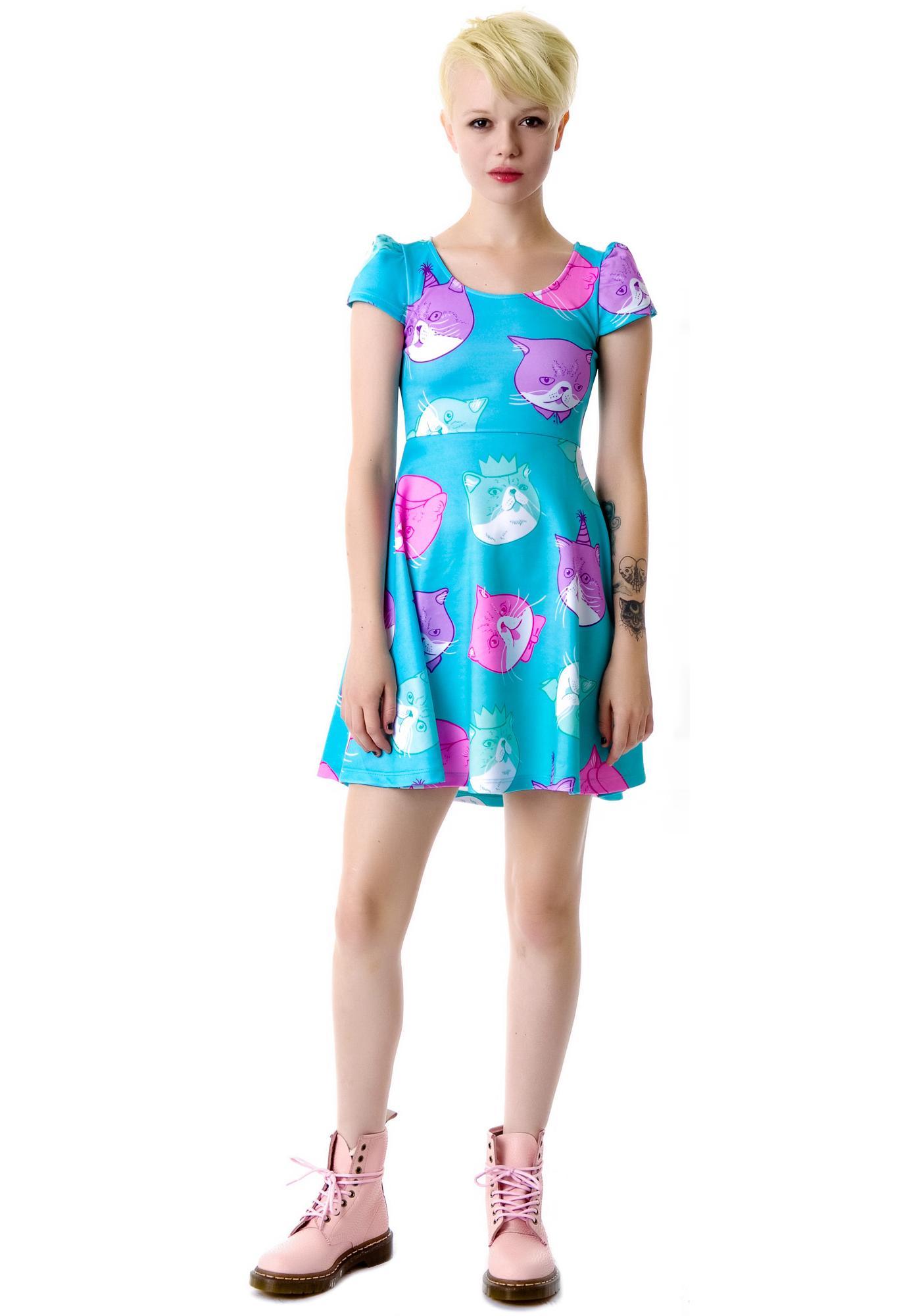 Japan L.A. Dapper Cat Cap Dress