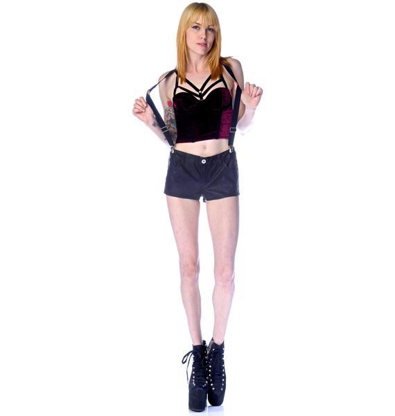 Trouble Suspender Vegan Shorts