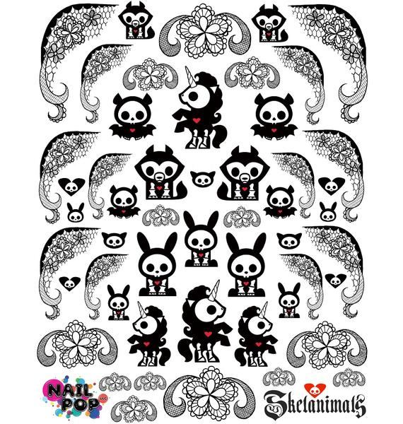 Nail Pop Skelanimals Nail Decals