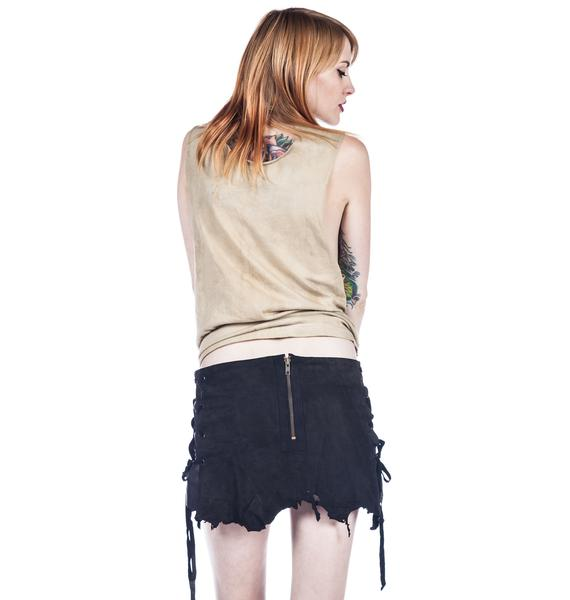 One Teaspoon Sadie Suede Skirt