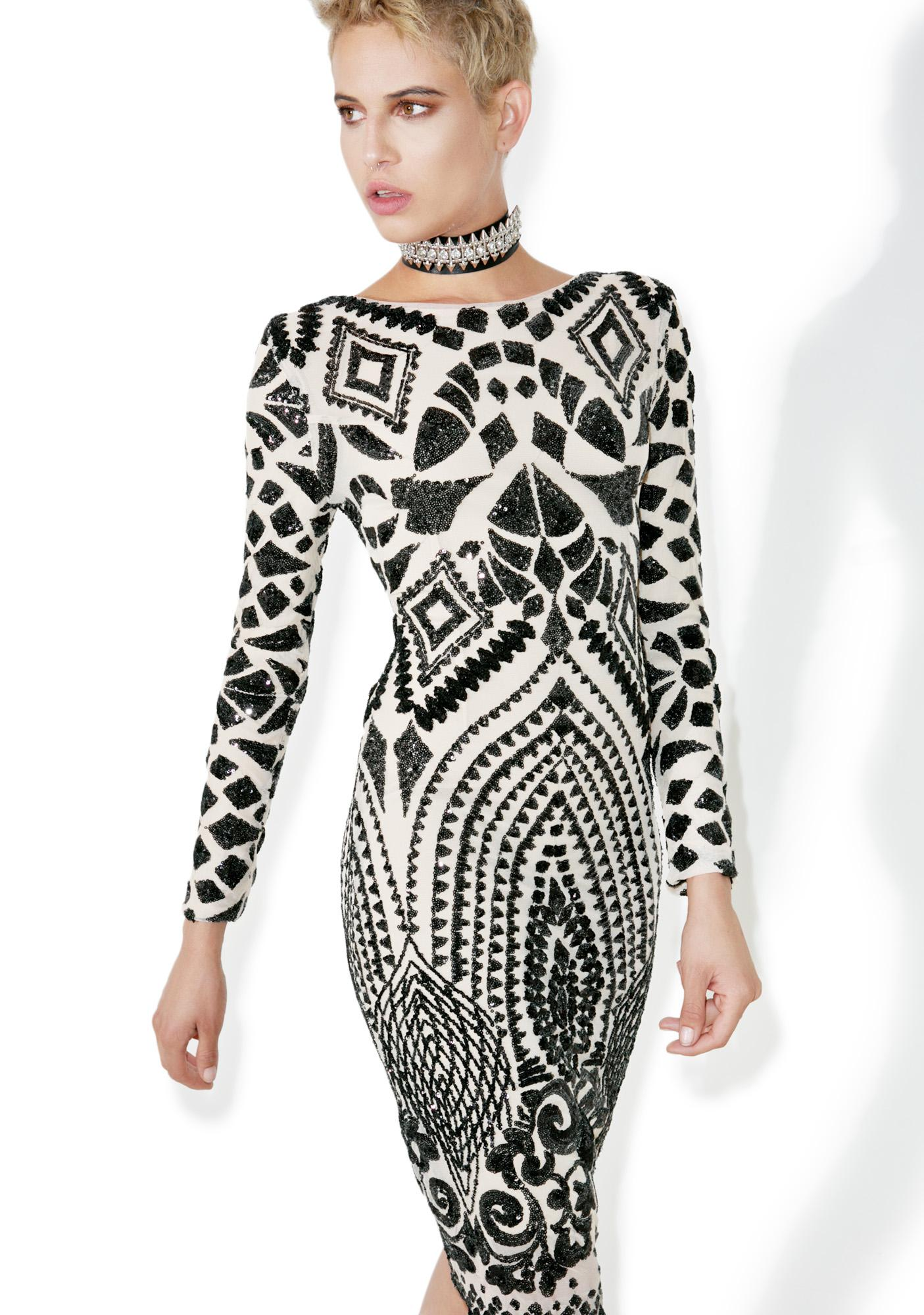 Raise A Glass Sequined Bodycon