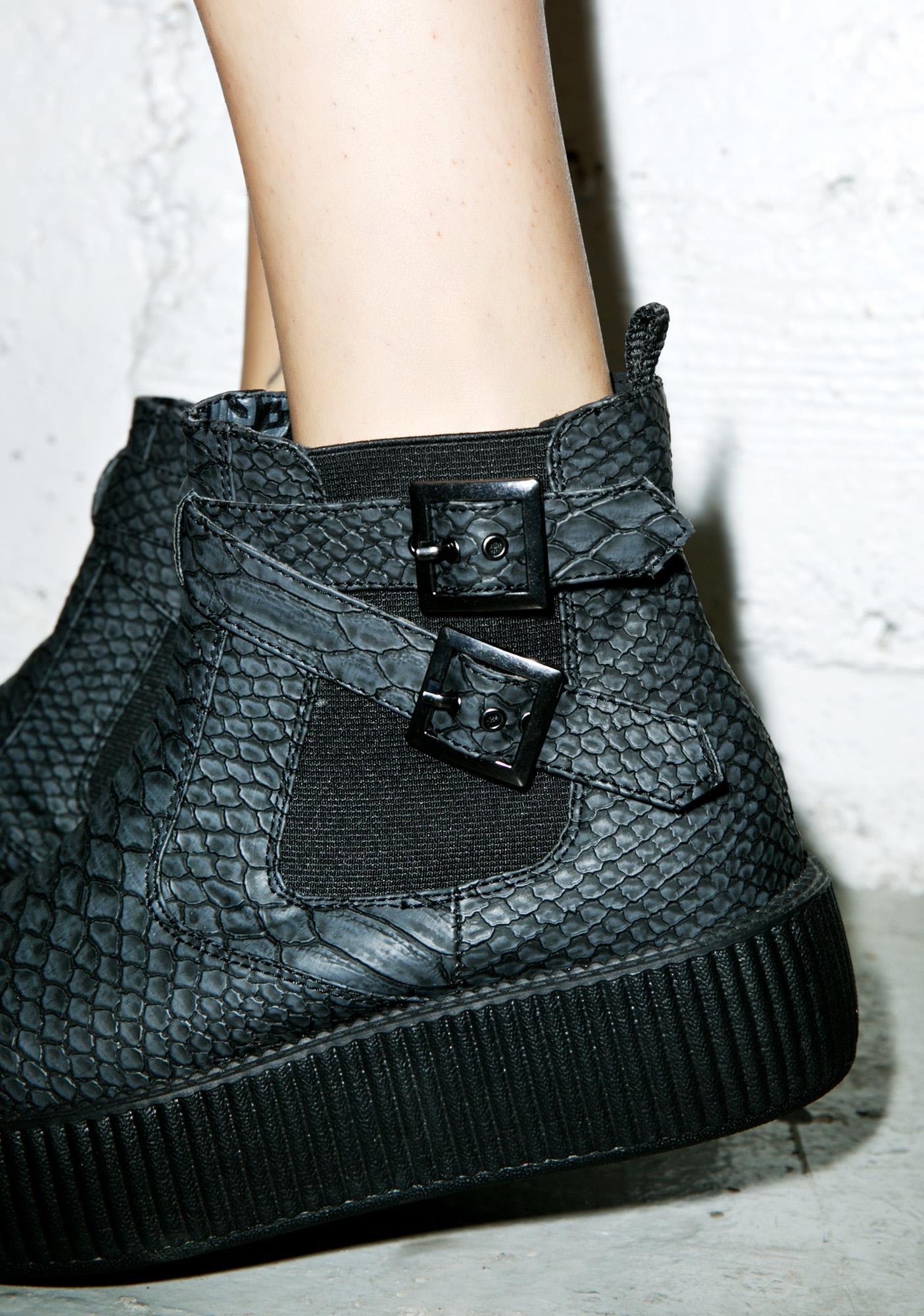 T.U.K. Dragon Scale Embossed Viva Mondo Chelsea Boots