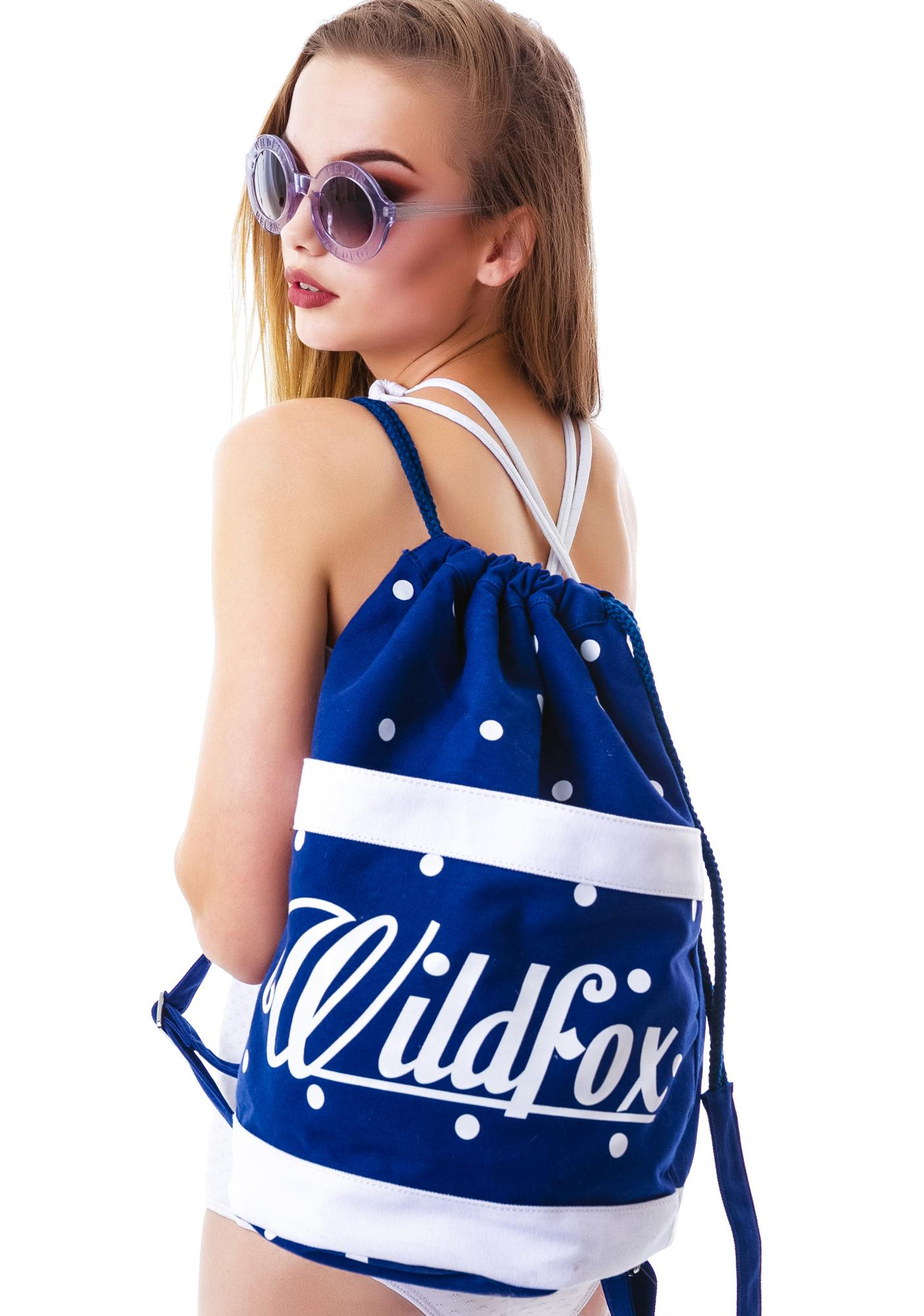 Wildfox Couture 60'S Polka Dot Beach Backpack
