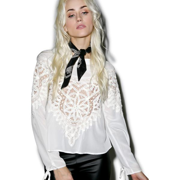 For Love & Lemons Santa Cruz Blouse