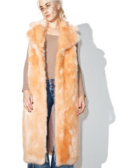 Martha Sleeveless Duster Coat