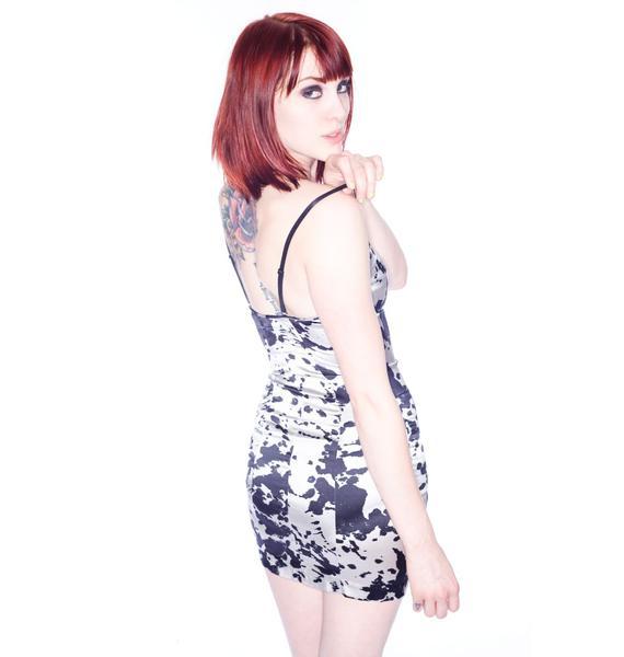 One Teaspoon Ink Silk Dress