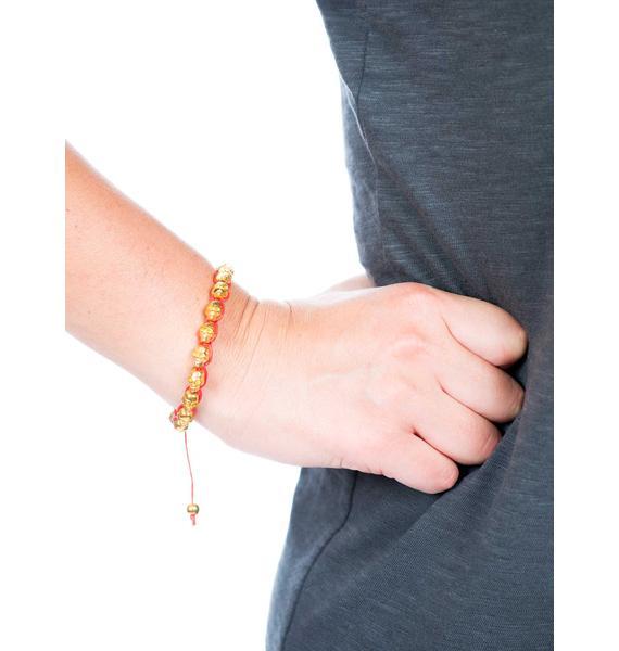 Woven Skull Bracelet