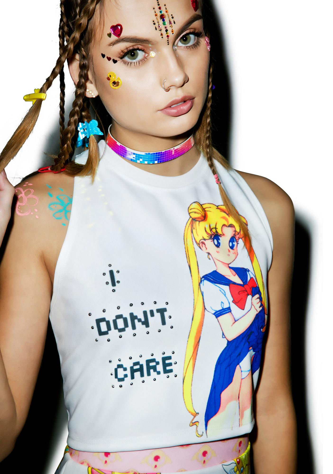I don't Care Moon Tank Top