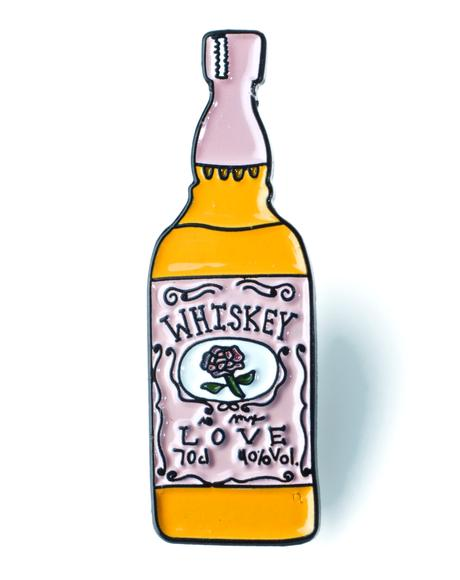 Whiskey Bottle Pin