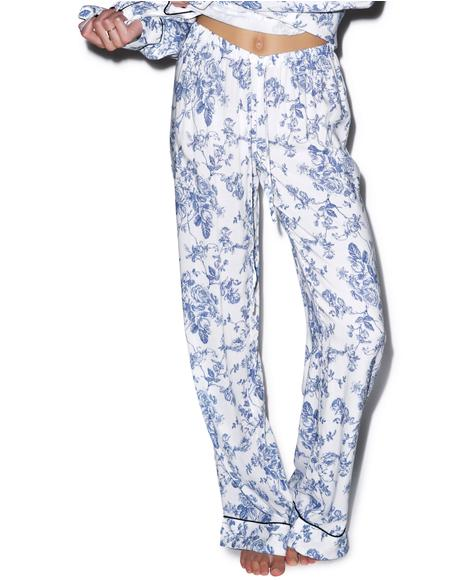 English Toile Classic PJ Set