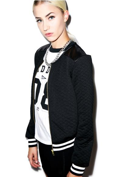 High School Drop Out Quilted Varsity Jacket