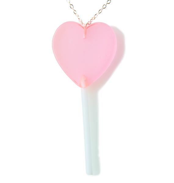 Unicorn Crafts Heart Lollipop Necklace