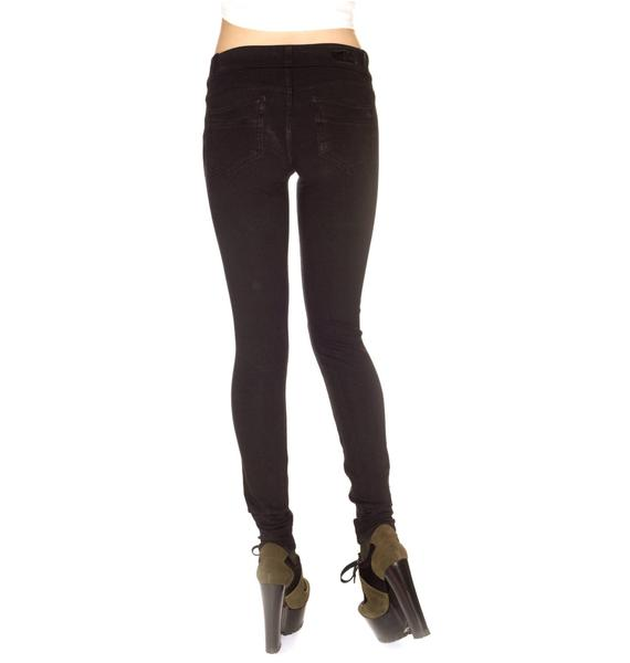 Revolt Knit Black Root Skinny Jeans