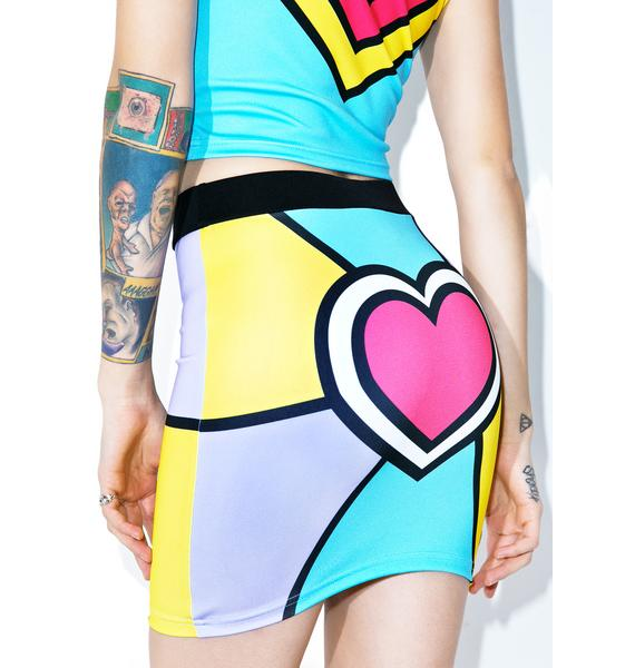 Nympha Electric Love Mini Skirt