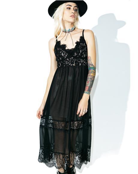 Breathe In Lace Slip Dress