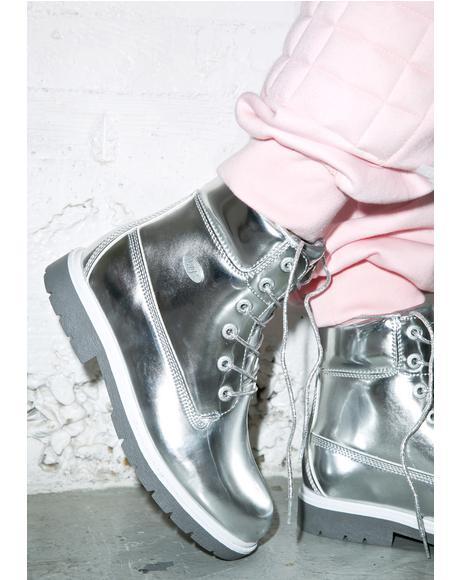 Metallic Shifter Boots