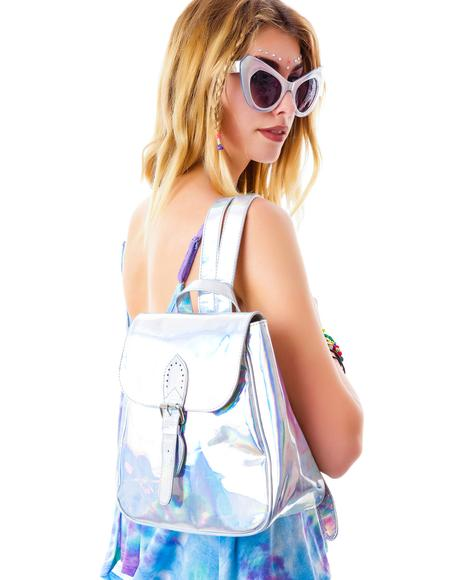 Iridescent Hologram Backpack