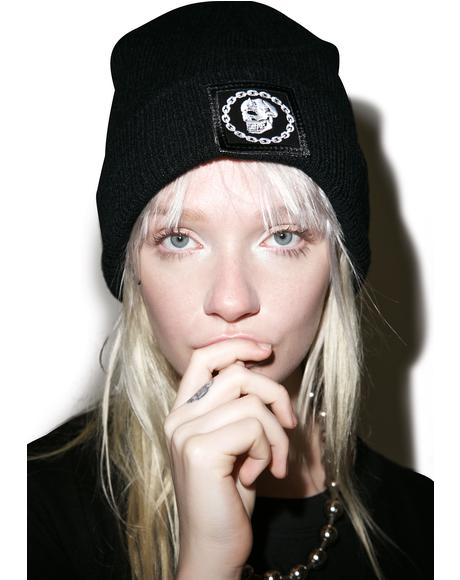 x Mishka Chain Large Patch Beanie
