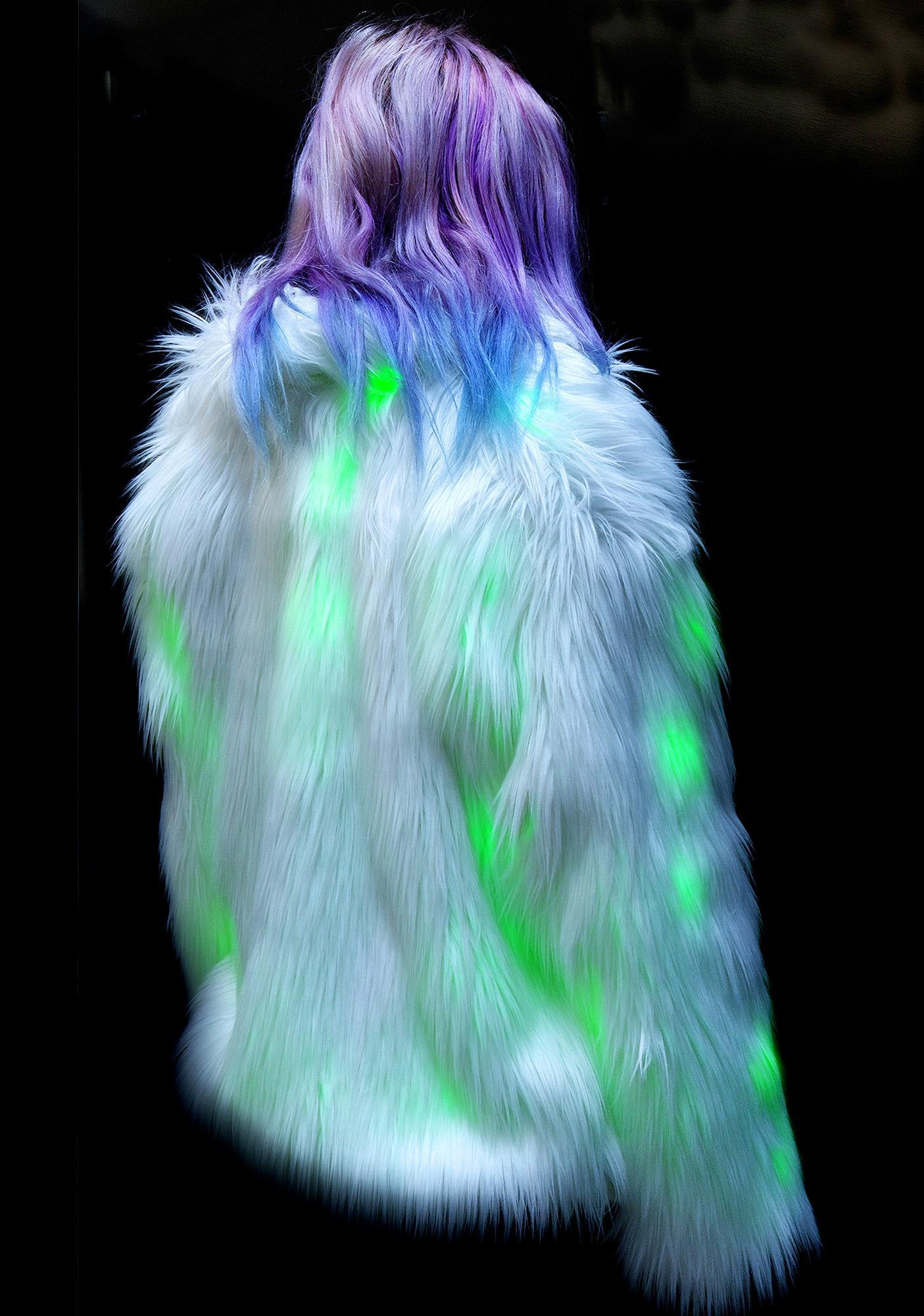 J Valentine Lava Flashing Lights Midi Jacket