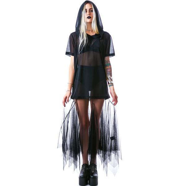 Widow Smoke Mesh Maxi Skirt
