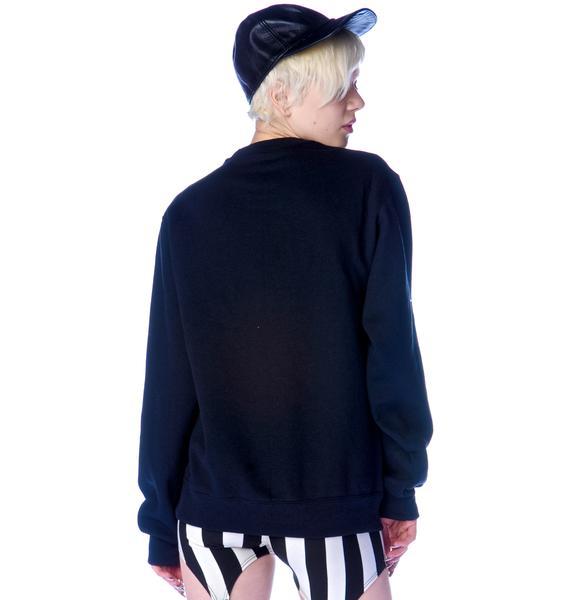 Shop W.A.S. Stay Dark Pentagram Sweatshirt