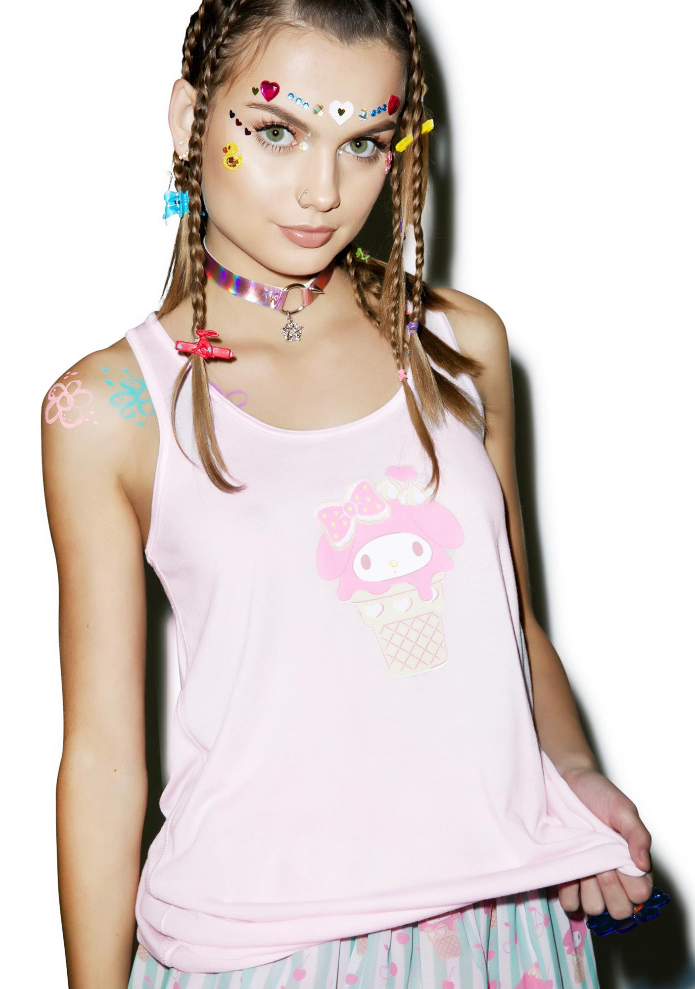 Japan L.A. My Melody Ice Cream Sweetie Bow Back Tank
