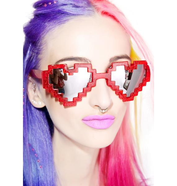 Pixel Heart Sunglasses