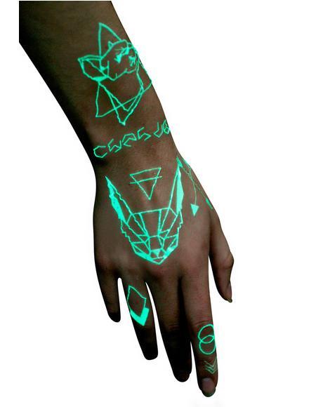 Disco UV Temporary Tattoos