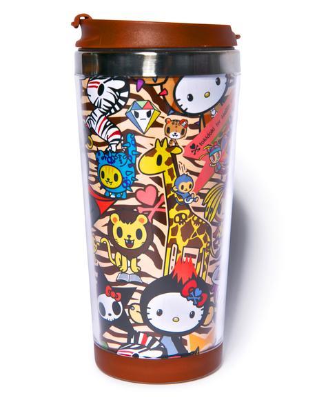Tokidoki X Hello Kitty Summer Safari Mug