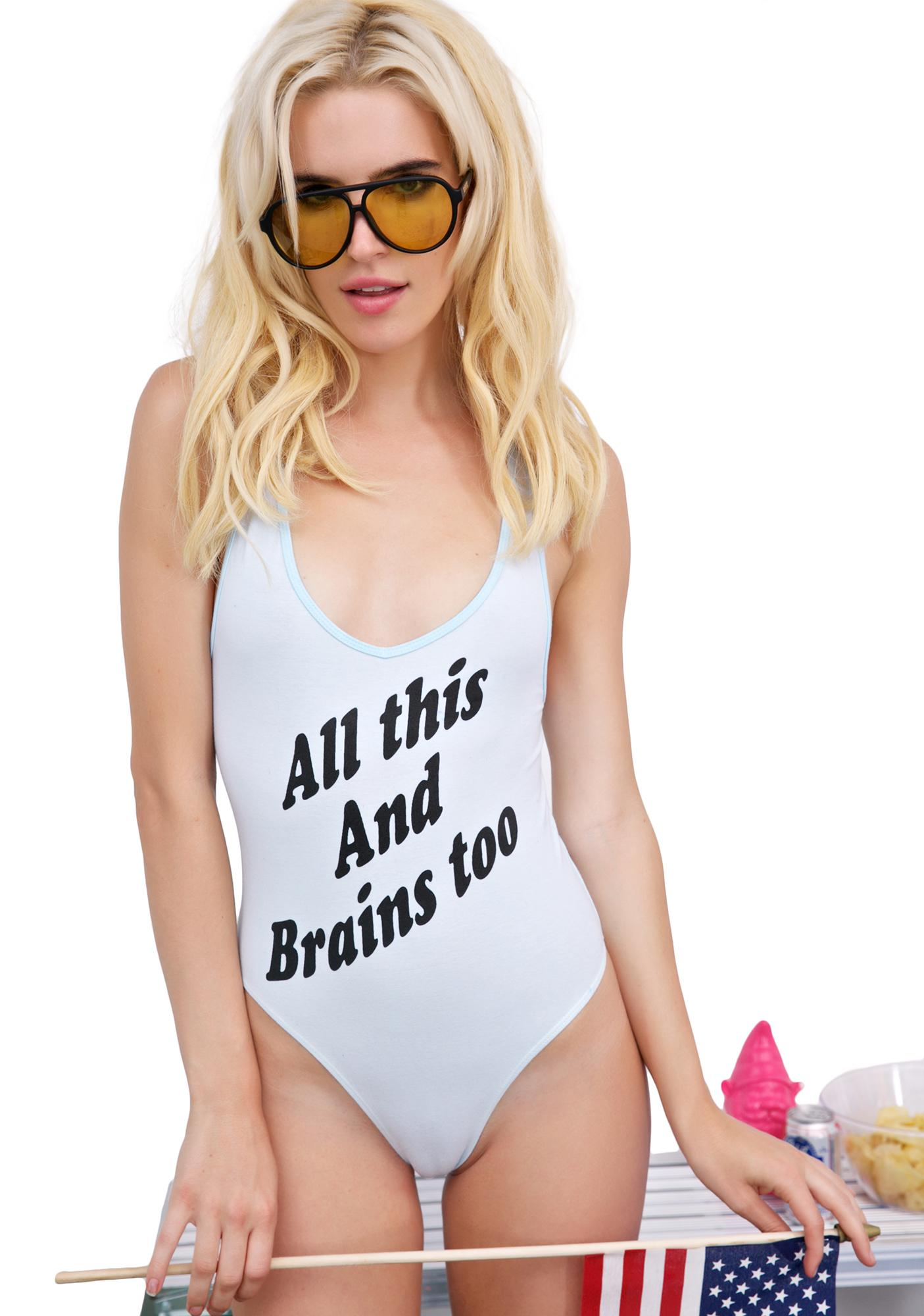 Burger And Friends Brains Too Bodysuit