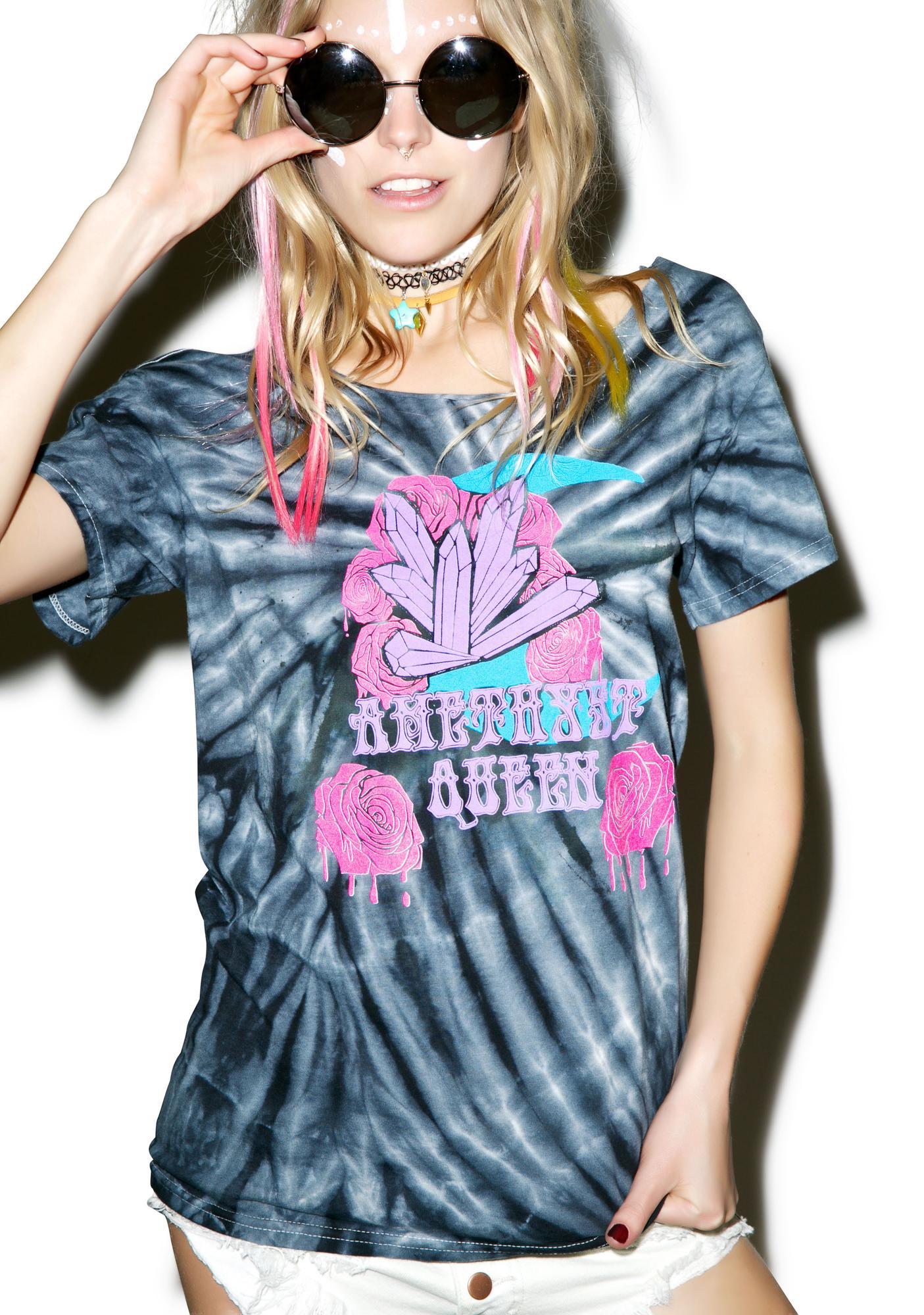 Cosmic Unicornz Amethyst Queen T-Shirt