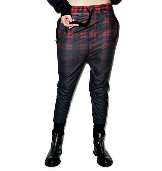 Killstar Tartan Dropcrotch Sweatpants