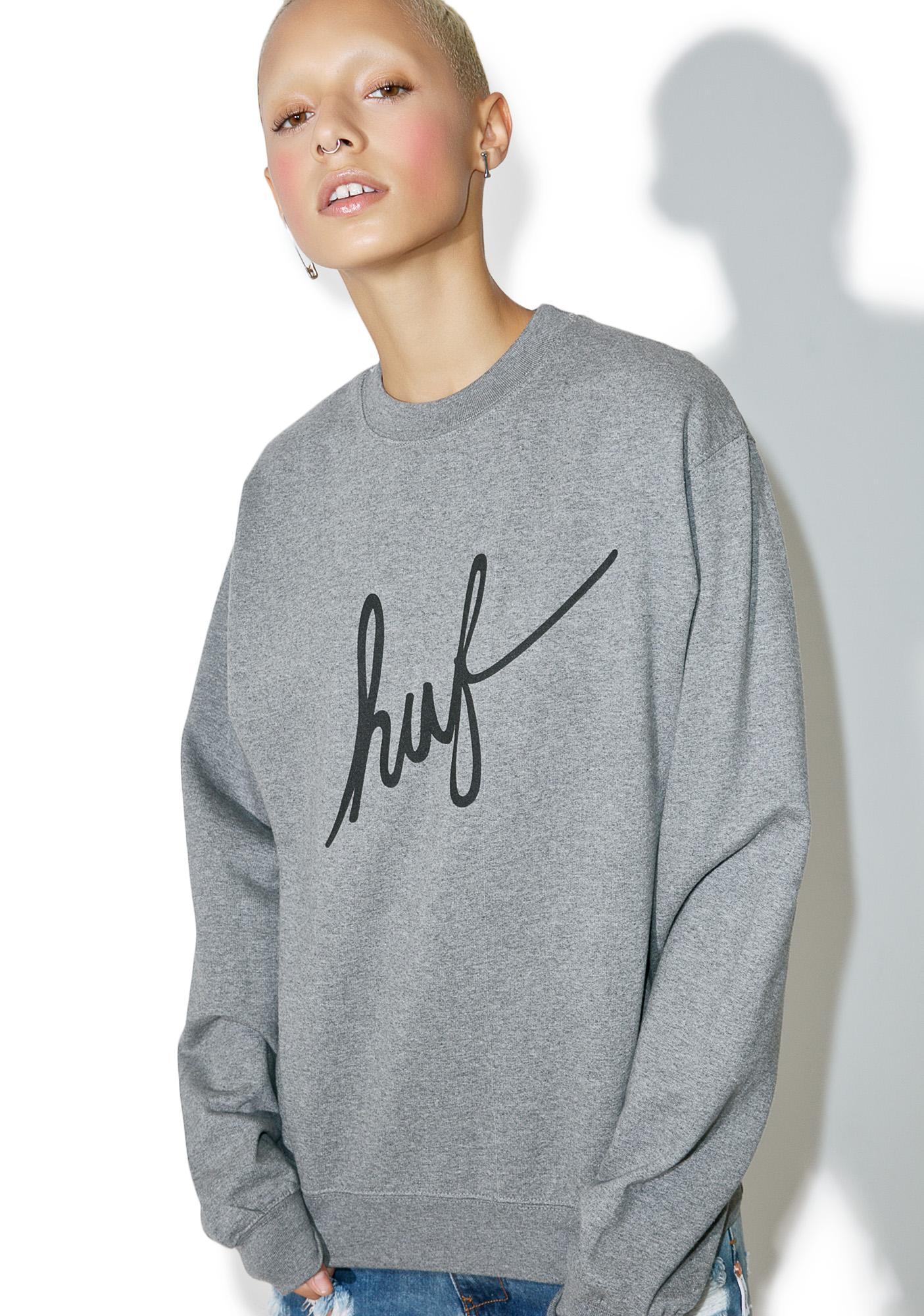 HUF Demi Script Crewneck Sweatshirt