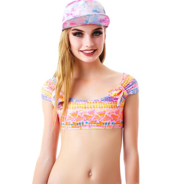 Lolli Swim Merry Go Round Crop Swim Top