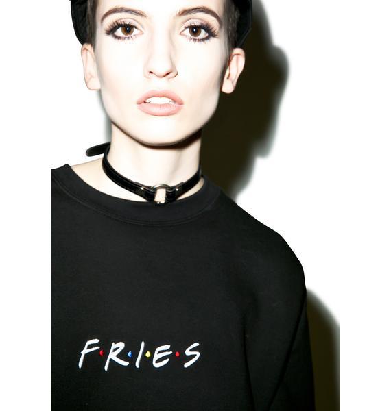 Petals and Peacocks Fries Sweatshirt