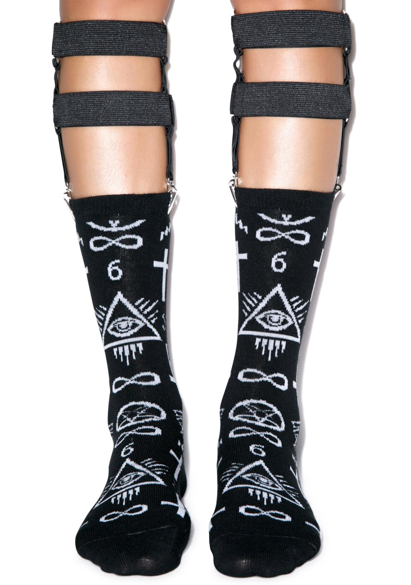 Too Fast Screw You Double Garter Sock