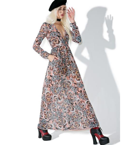 For Love & Lemons Gracie Maxi Dress