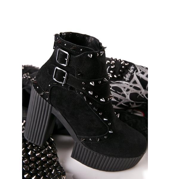 T.U.K. Spiked Yuni Platform Heels