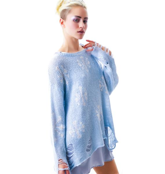 Wildfox Couture Snowflake Lennon Sweater