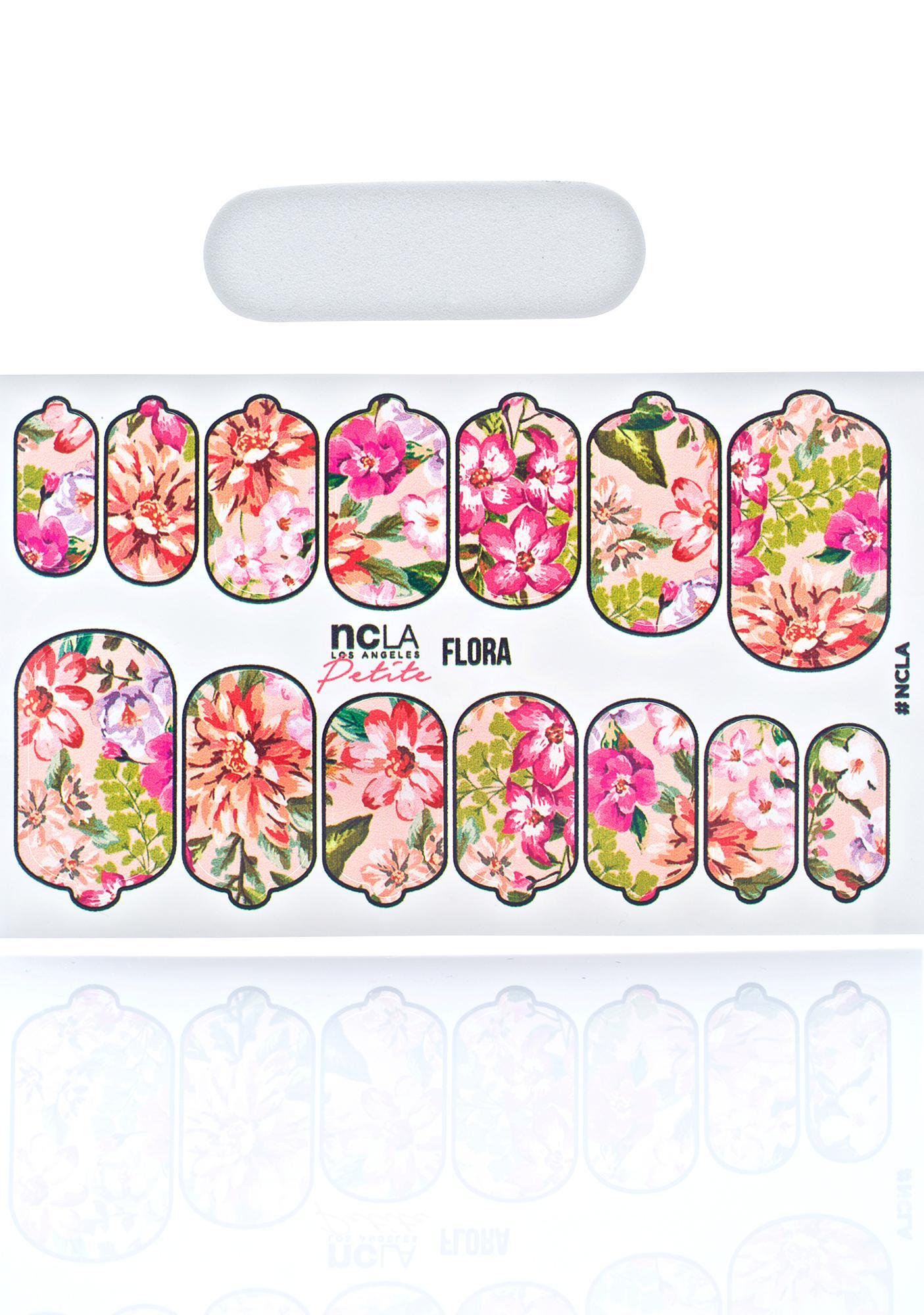 NCLA Flora Petite Nail Wraps