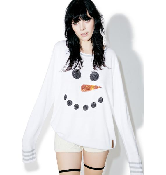 Tipsy Elves Snowman Face Sweater