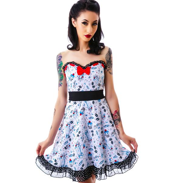 Sourpuss Clothing Erin Lazy Sundae Dress